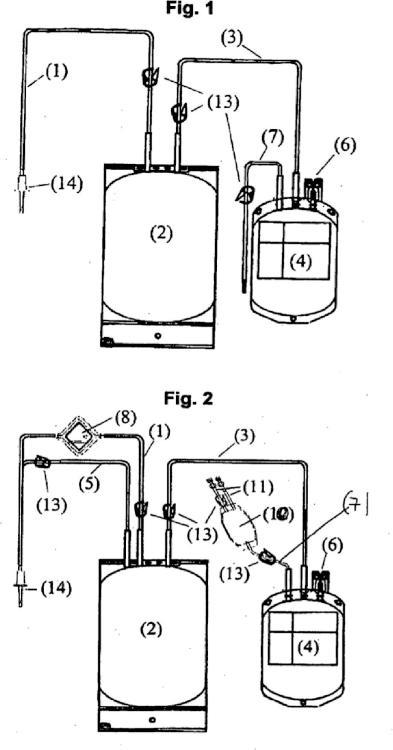 Sistema de bolsa de sangre y proceso para la desactivación de patógenos en concentrados de plaquetas mediante el uso del sistema de bolsa de sangre.