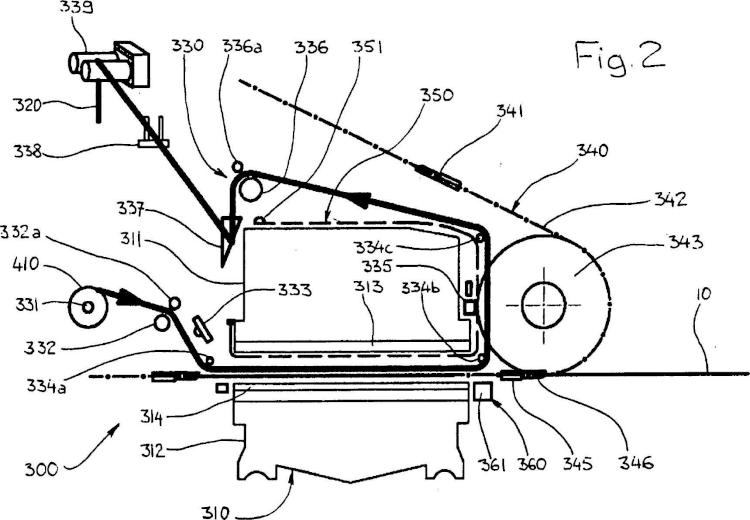 Dispositivo de impresión por estampado en caliente.