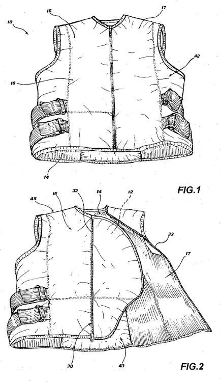 Prenda adaptada para asociarse con un elemento de protección inflable.