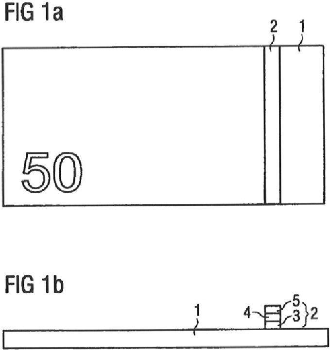 Sustrato apropiado para almacenamiento y elemento de seguridad para la fabricación de billetes de banco, billete de banco y procedimiento para su fabricación.