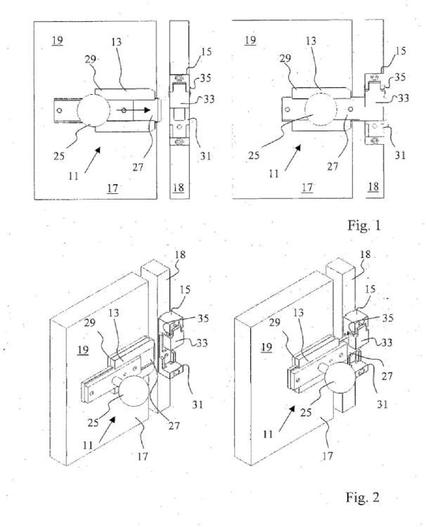 Dispositivo de bloqueo de seguridad con mecanismo de desbloqueo para escape.
