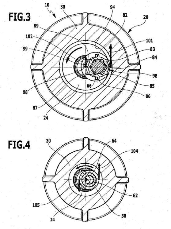Tobera de rotor para un aparato de limpieza de alta presión.