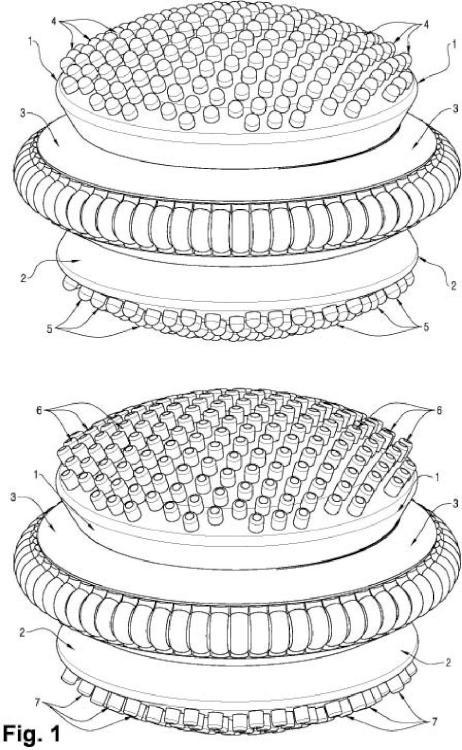 Dispositivo de aislamiento sísmico con múltiples núcleos y engranajes.