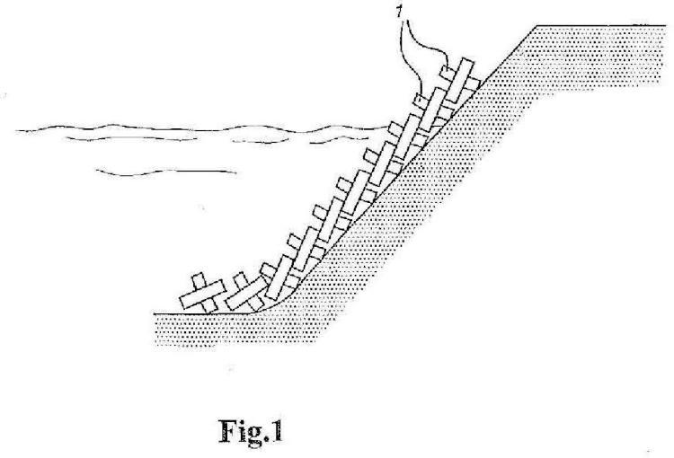 Elemento protector para un rompeolas o una construcción para el retardo de las olas.