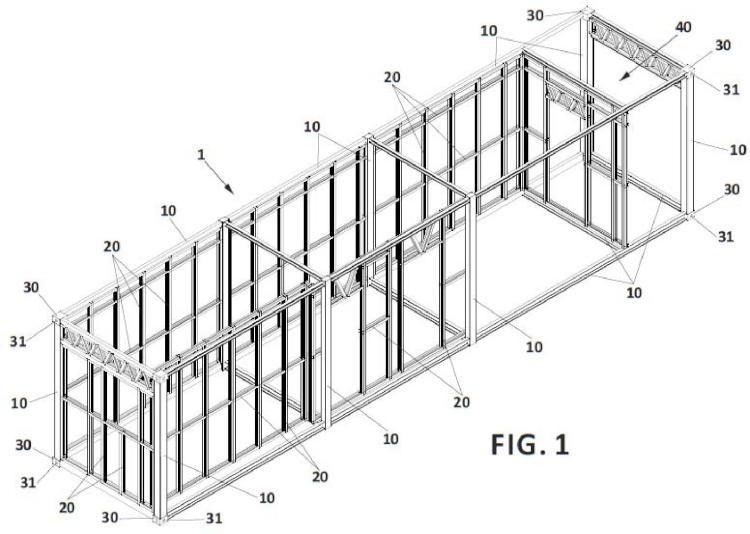 Módulo prefabricado para construcción y edificación modular asociada.