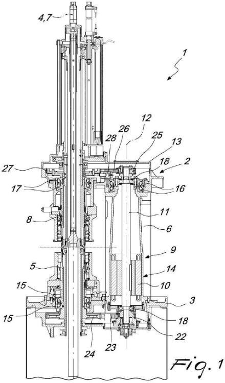 Máquina circular de doble cilindro para producir manufacturas tricotadas tubulares, particularmente para realizar artículos de calcetería o similares.