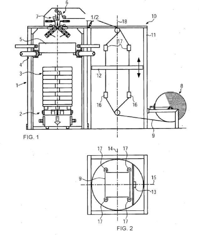 Procedimiento y dispositivo para la fabricación de una unidad de embalaje.