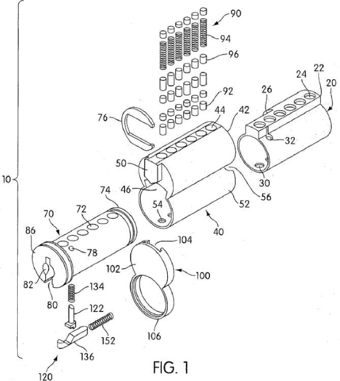 Cerradura de bombín y mecanismo de cerradura auxiliar.