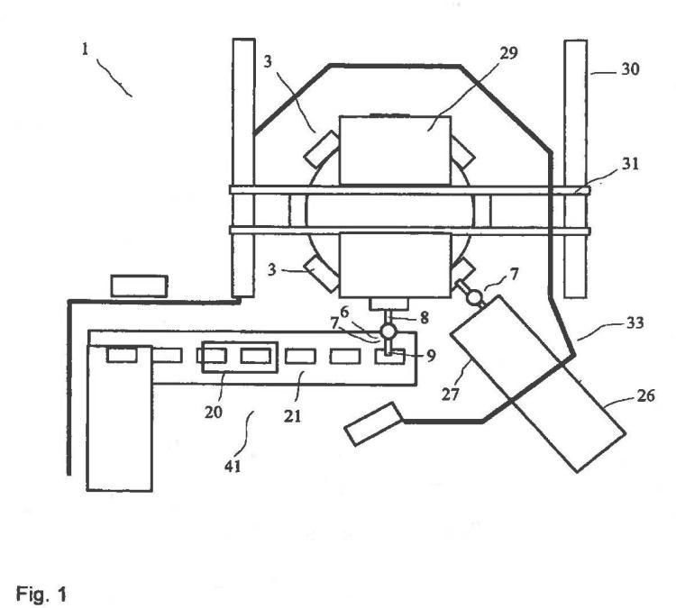 Empaquetadora rotatoria y procedimiento para el llenado de sacos abiertos.