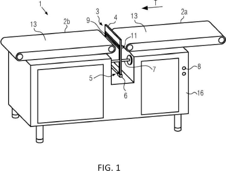 Procedimiento y dispositivo para la separación de productos.
