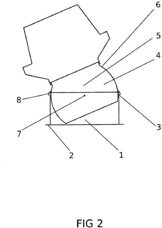Dispositivo de adaptacion a la pendiente en los huecos o pasos de cubiertas inclinadas.