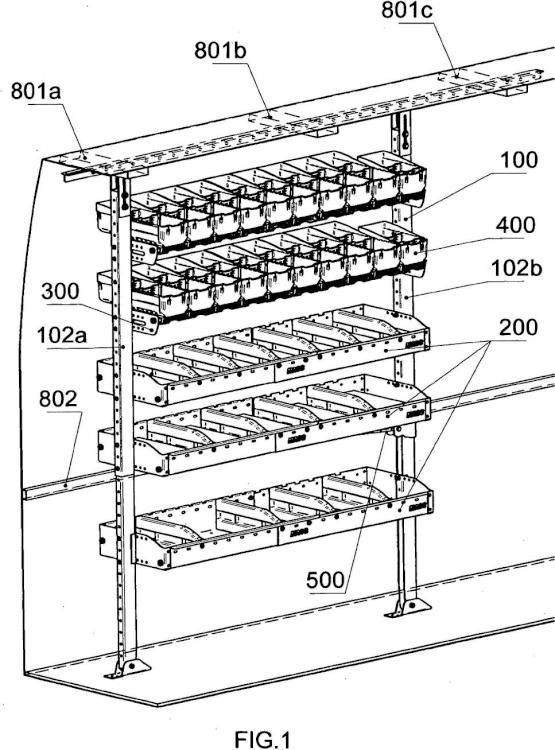 Mueble de almacenamiento para vehículos utilitarios.