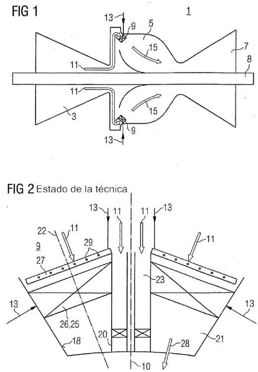 Quemador y procedimiento para hacer funcionar una turbina de gas.