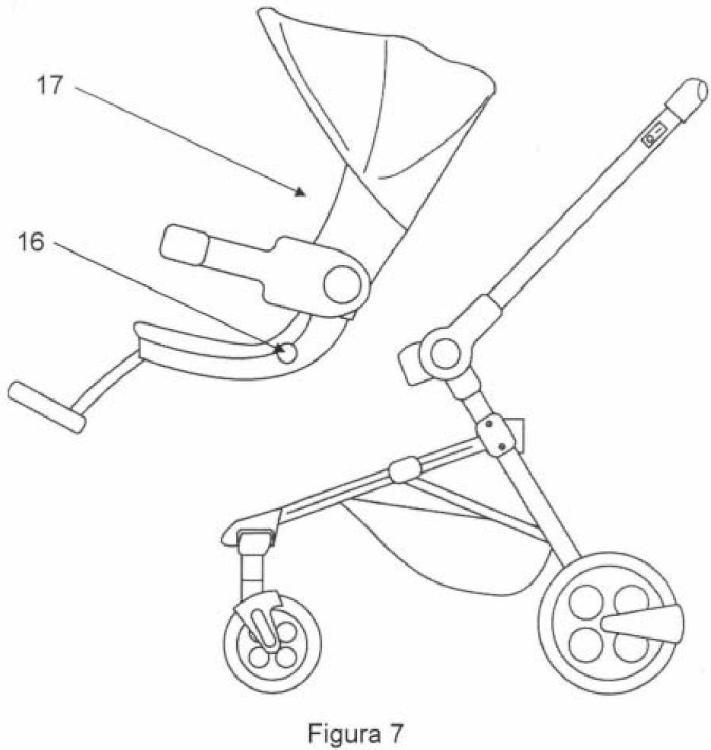 Ilustración 4 de la Galería de ilustraciones de Cochecito para bebés con sistema de frenado ante pendientes y nivelación automática del capazo
