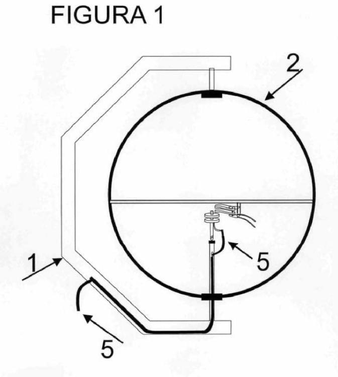 Banderola luminosa giratoria motorizada.