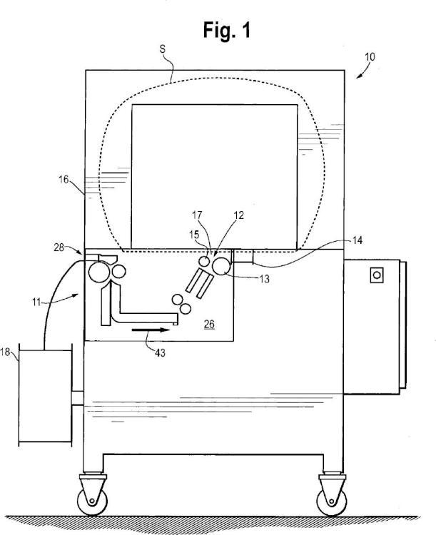 Conjunto de carga automática de fleje para máquina de flejar.