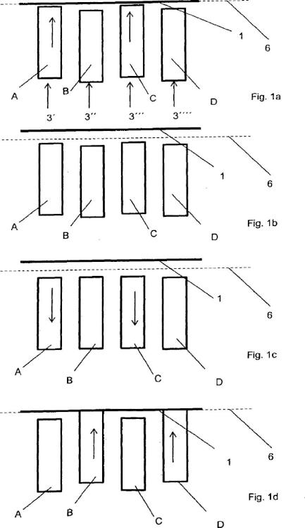 Procedimiento para el funcionamiento de un cortafiambres con accionamientos de varias pistas.
