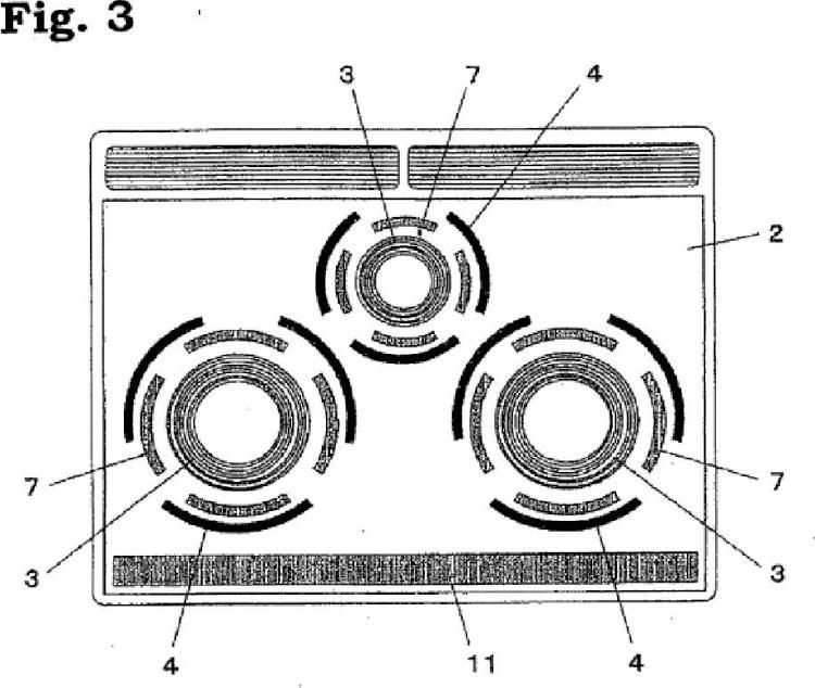 Dispositivo de cocción por inducción.