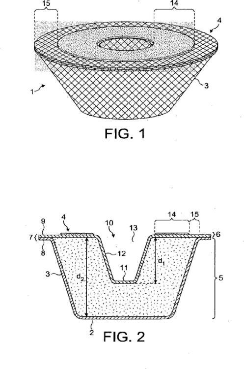 Cápsula y envase para preparar una bebida por centrifugación.