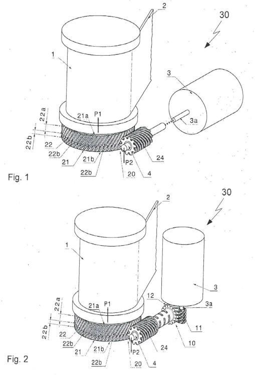 Accionamiento de tensor de cinturón.