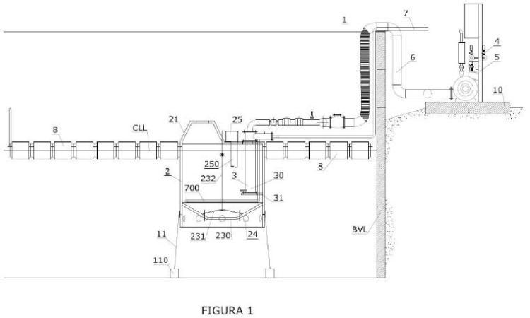 Sistema y procedimiento para adsorción por evaporación directa de lixiviados efluentes de un vertedero de residuos sólidos urbanos.