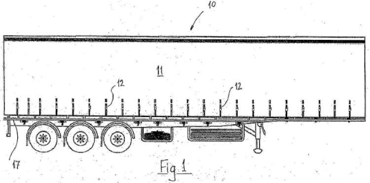 Cortina lateral para camión y cuerpos de remolque.
