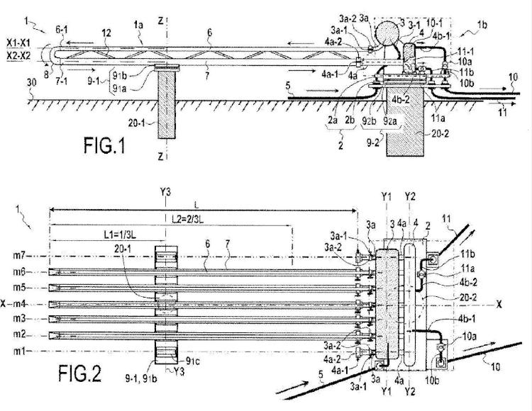 Dispositivo modular de separación gravitatoria líquido/líquido.
