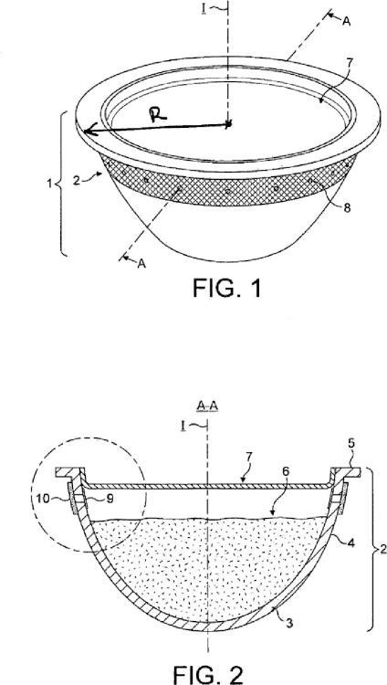 Cápsula y procedimiento permitiendo la preparación de una bebida por centrifugado.