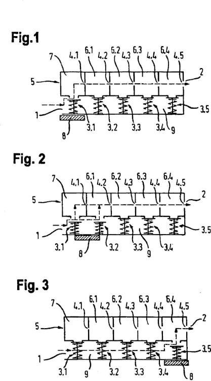 Circuito de una unidad de válvula de gas.