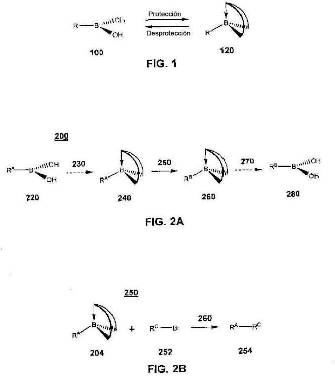 Sistema para controlar la reactividad de los ácidos borónicos.