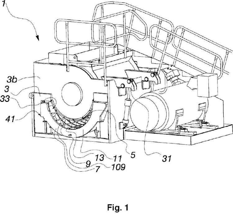 Rejilla inferior de una trituradora o una desmenuzadora de tambor y método de producción de la rejilla inferior.