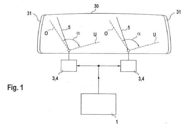 Dispositivo de control para un dispositivo limpiaparabrisas y procedimiento para hacer funcionar un dispositivo de control de este tipo.