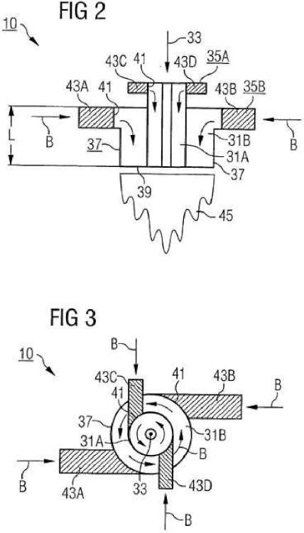 Método para la combustión de un combustible fluido, así como quemador, en particular para una turbina de gas, para ejecutar el método.