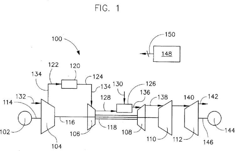 Sistema y procedimiento de uso de un sistema de almacenamiento de aire comprimido con una turbina de gas.