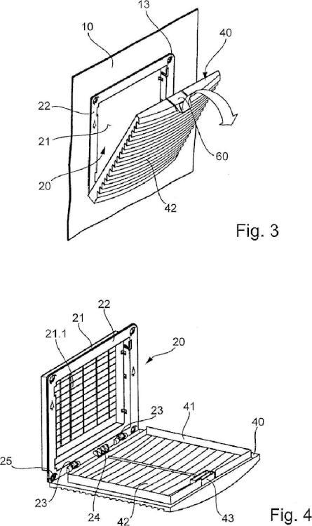 Unidad de filtro para un armario de distribución.