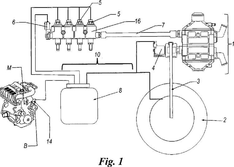 Procedimiento y dispositivo para el diagnóstico de fugas de fluido gaseoso en un circuito de alimentación de combustible de un vehículo accionado a motor.
