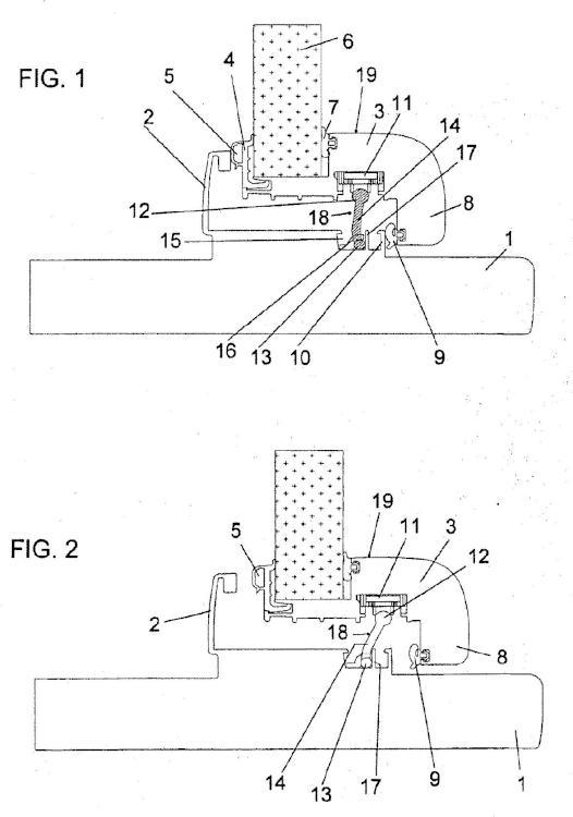 Sistema de maniobra de un batiente corredizo en un durmiente.