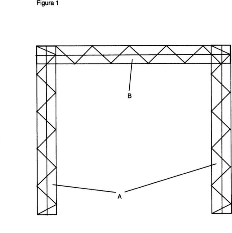 Arco de paso con pantalla incorporada para la emisión de imágenes.