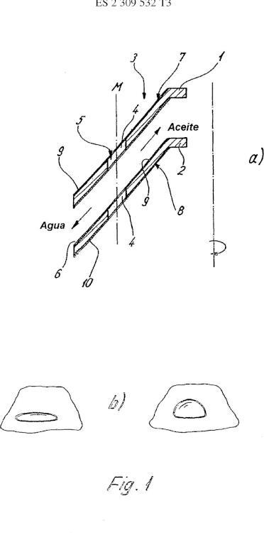 Placa de separación y centrífuga con placas de separación de este tipo.