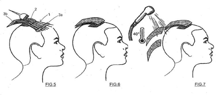 Método para teñir/desteñir de un mechón de cabello.