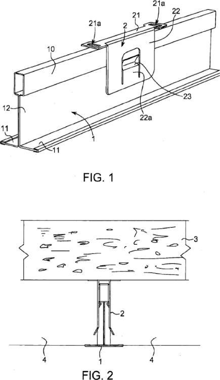 Sistema de soporte para el montaje de una rejilla de panel o estructura de soporte de pared.
