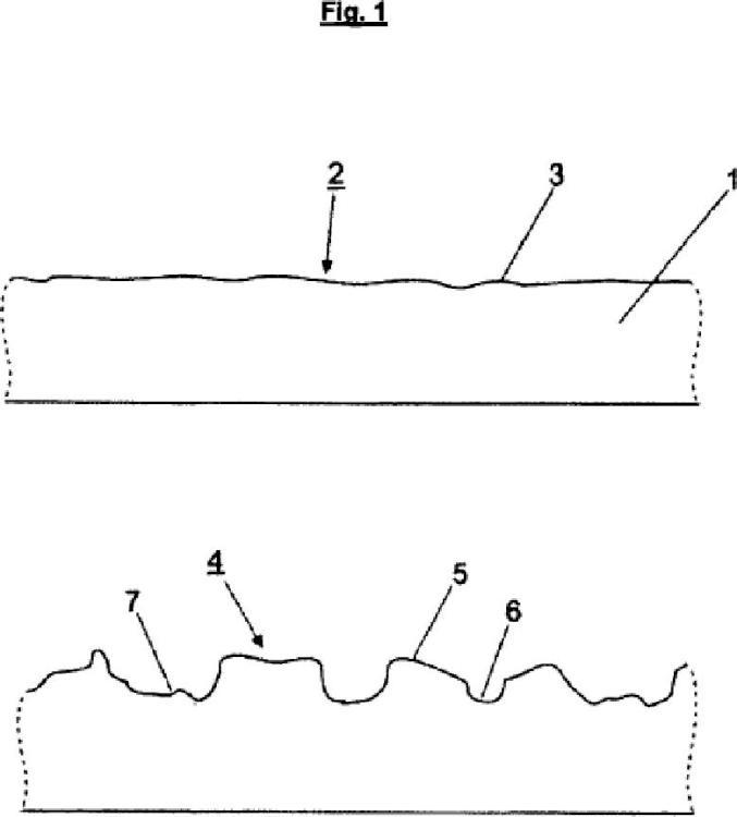 Procedimiento para la producción de una estructura de superficie con un dispositivo de chorro de agua.