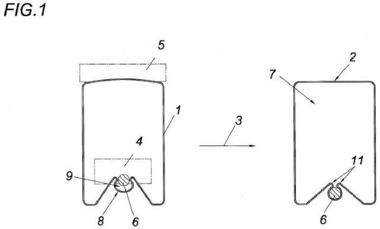 Procedimiento para producir un perfil hueco abierto o cerrado, y en particular con varias cámaras.