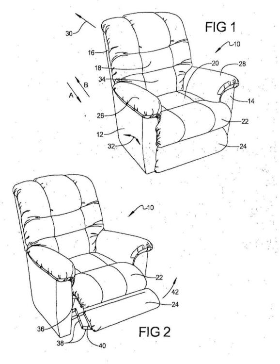 Sistema de rotación y liberación de un reposacabeza accionado por motor de un miembro de mueble.