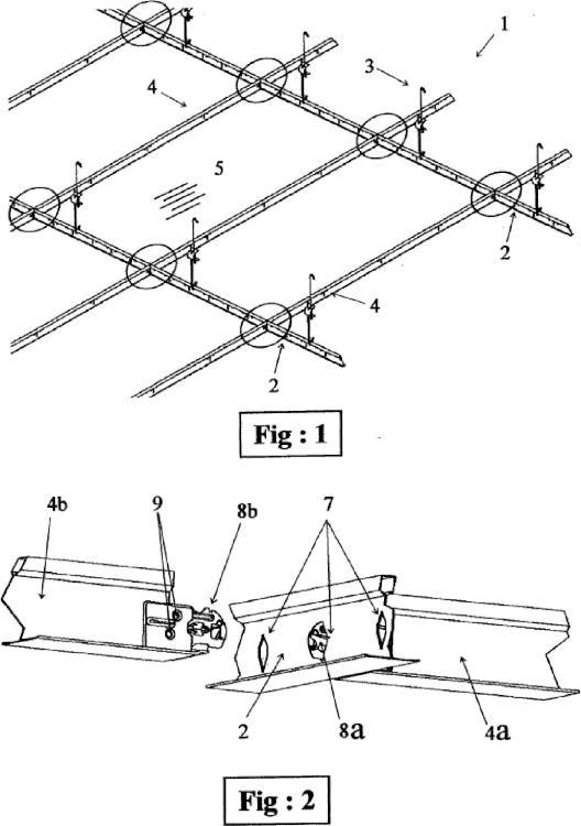 Conector para armazón metálico de techo suspendido y techo que lo utiliza.