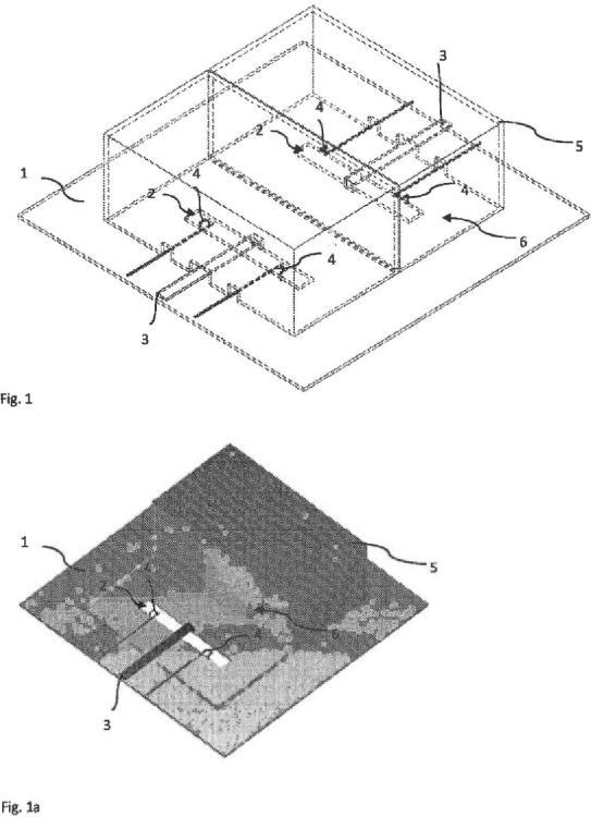 Array aplicador de campo electromagnético con sensores de campo integrantes para la corrección implícita del acoplamiento mutuo y la desadaptación.