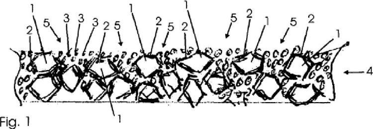 Revestimiento de suelo para superficies deportivas, así como procedimiento para su producción.