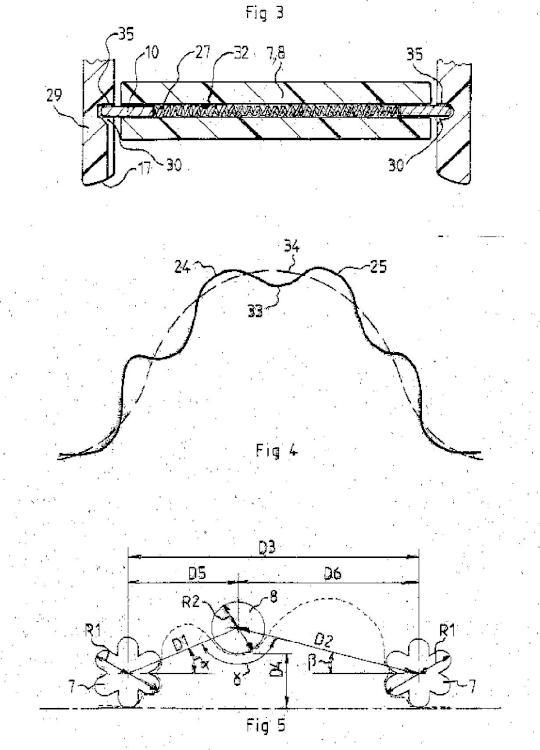 Dispositivo de masaje por presión negativa que forma varios pliegues mediante plegamiento compuesto.