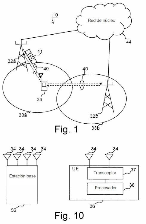 Método y disposición para control de potencia de enlace ascendente.