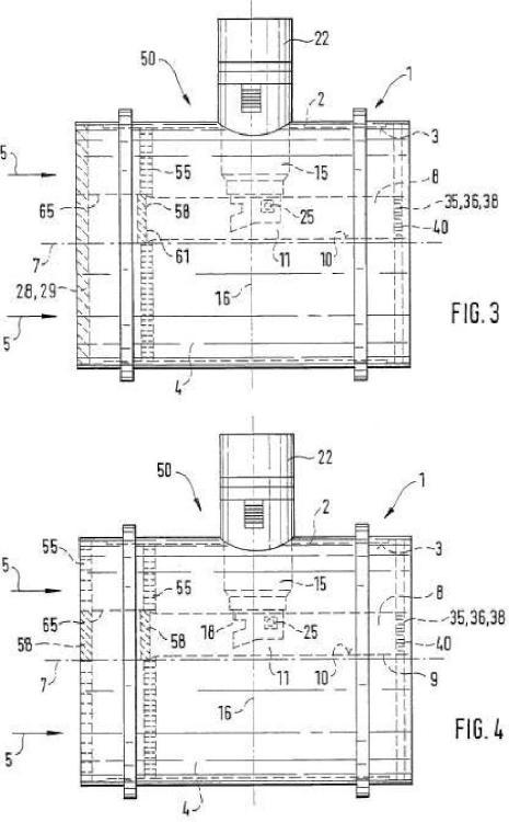 Empleo de un rectificador de flujo como trampa de condensación para un líquido en un flujo gaseoso.